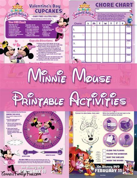 Minnie Mouse Printables, Minnierella Activities, Worksheets  Disney  Pinterest  Minnie Mouse
