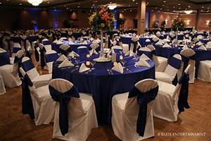 wedding reception in royal blue the merry bride With wedding reception videos