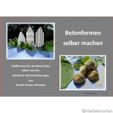 Betonformen Selber Machen by Basteln Mit Beton Meriseimorion Part 2