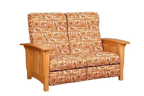 Mission Loveseat Recliner by Paneled Mission Recliner Loveseat Sofa From Dutchcrafters