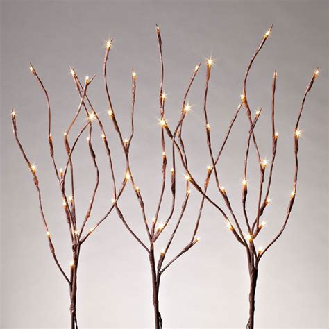 led 27 quot outdoor battery timer 3 stems lighted branch