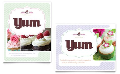 bakery cupcake shop poster template word publisher