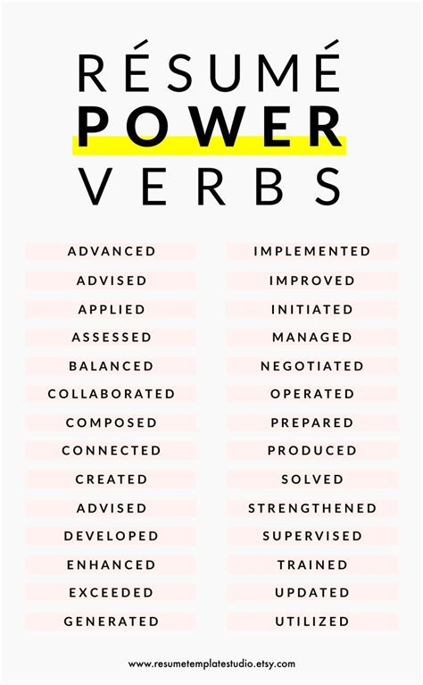 resume power verbs and resume tips to boost your resume