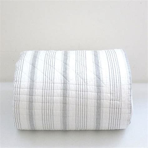 ticking stripe quilt matteo ticking stripe quilt contemporary quilts and