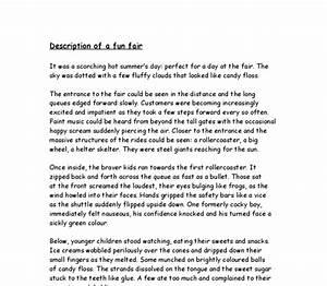 Descriptive essay - Description of a fun fair and ...