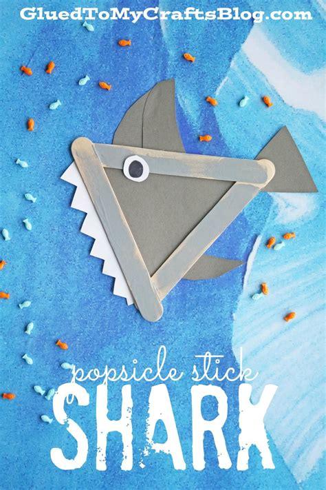 shark projects for preschoolers popsicle stick shark kid craft shark craft and activities 719