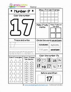 Number Worksheets for Kindergarten Number 17 Worksheet