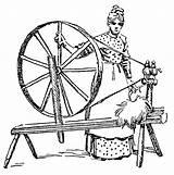 Wheel Clipart Spinning Spin Clip Loom Bike Etc Usf Edu Thread sketch template