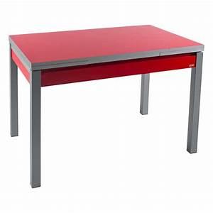 Petite Table Extensible : petite table de cuisine extensible en formica avec tiroir pieds alu iris 4 ~ Teatrodelosmanantiales.com Idées de Décoration