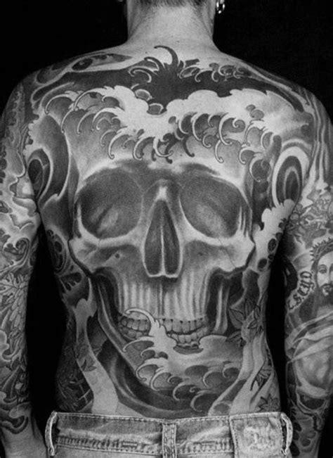 40 Japanese Skull Tattoo Designs For Men - Cool Cranium Ink Ideas