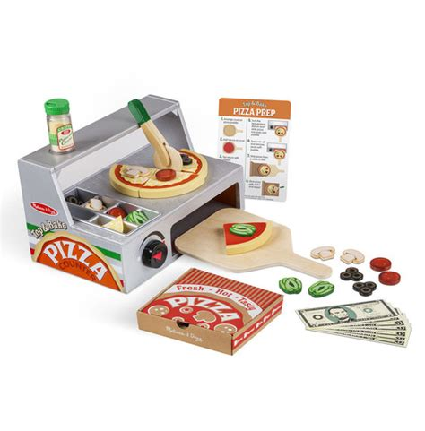 and doug kitchen accessory set top bake pizza counter wooden play food and doug 9740