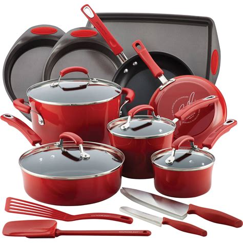 cookware ray rachael kitchen walmart piece sets craft anodized hard grey bakeware magnificent appliances discount cheap thewhiskeybottles