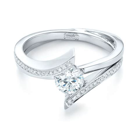 custom tension style engagement ring 103305