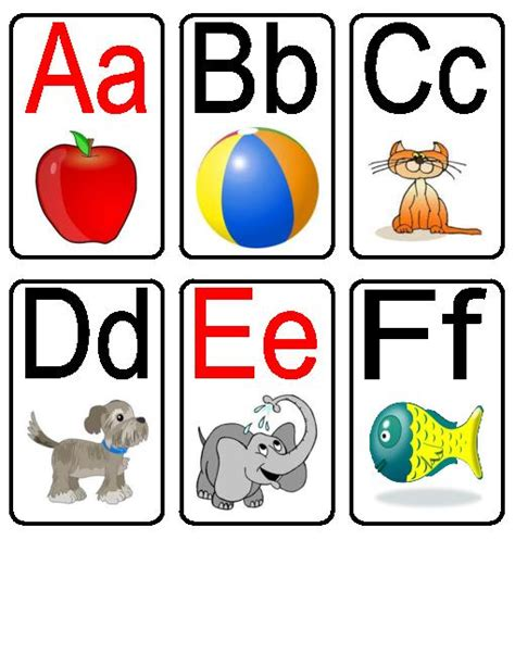 printable alphabet flashcards with pictures printable 877 | printable alphabet flashcards with pictures red vowel alphabet flashcards
