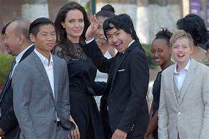 Angelina Jolie and Her Kids at Movie Premiere in Cambodia ...