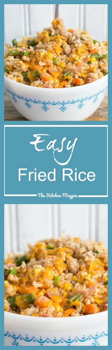 Rice is one of the most highly consumed foods in beans and rice are healthy and versatile and delicious. How to Make Easy Fried Rice : Recipe & Video! - The Kitchen Magpie