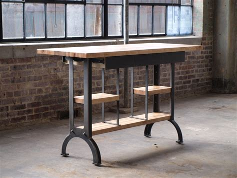buy  custom maple modern industrial kitchen island