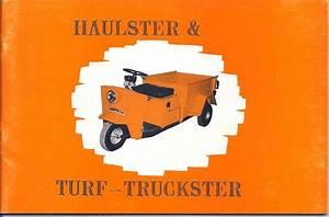 Cushman Haulster  U0026 Turf Truckster Manual Model 898401