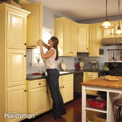 what to look for in kitchen cabinets how to spray paint kitchen cabinets the family handyman