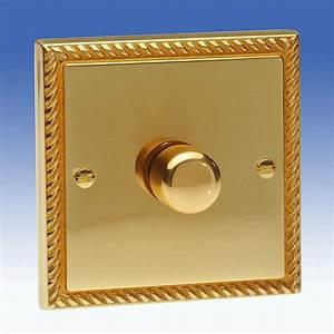 Brass Georgian Lighting Dimmers