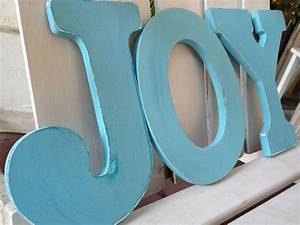 sale joy wood letters 9 inch distressed blue With giant joy letters