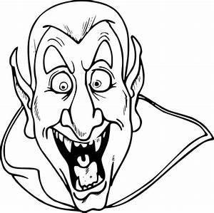 Dessin Halloween Vampire : coloriage t te de vampire imprimer ~ Carolinahurricanesstore.com Idées de Décoration