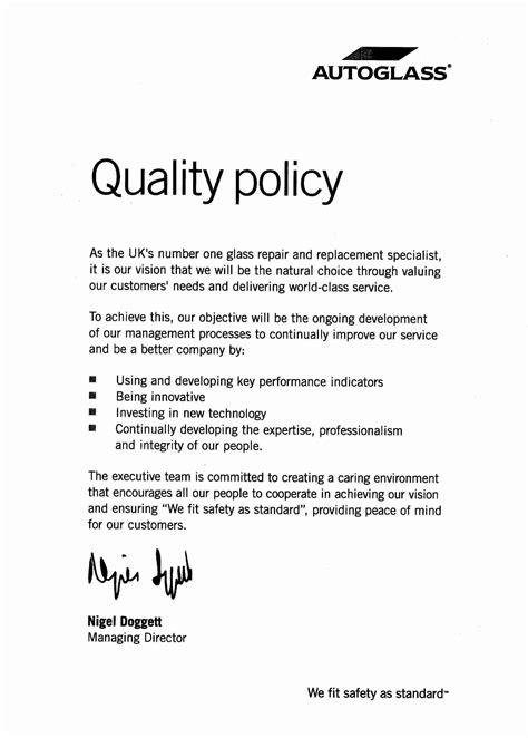 autoglass specials certification  policies