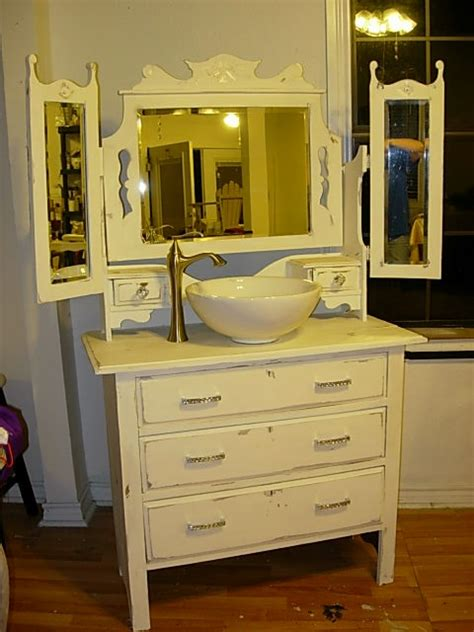 old dressers made into sinks antique dresser made into sink cabinet diy bathroom