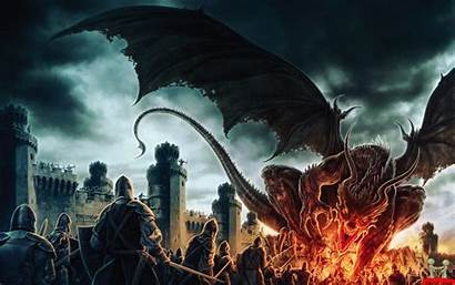 Dragon Fire Wallpapers Backgrounds Battle Awesome Dark