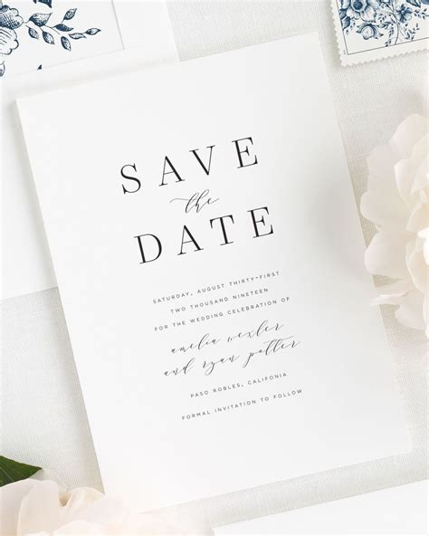 Amelia Save the Date Cards Save the Date Cards by Shine