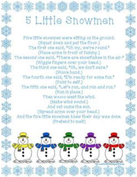 five snowmen fingerplay ec activities 732   8275b53502fc8ebf48e4ec8b4ecc37ff preschool songs preschool winter