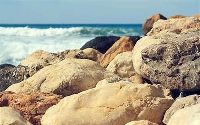 Beach Stones Sea Waves Wallpapers Allwallpaper
