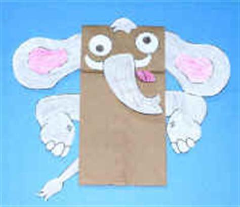 elephant paper bag puppet manualidad con bolsa de papel el elefante 4397