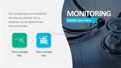 clinical monitoring powerpoint template slidemodel