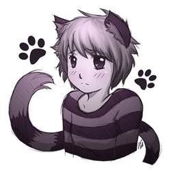neko cat cheshire neko boy by kiteus on deviantart