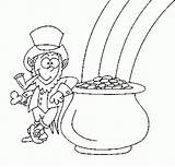 Coloring St Pot Gold Patrick Pages Printable Patricks Finished Potogold sketch template