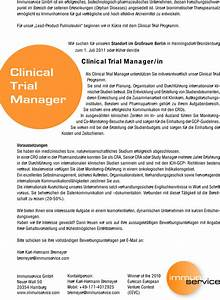 stellenangebot clinical trial manager in in henningsdorf job With clinical trial jobs