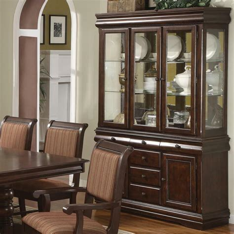 Dining China Cabinet - merlot wooden china cabinet buffet and hutch formal dining