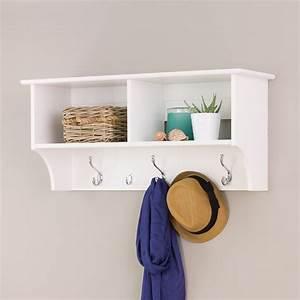 Prepac, White, 36, U0026quot, Wide, Hanging, Entryway, Shelf