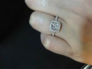 2 carat cushion cut diamond cushion cut engagement rings on 4