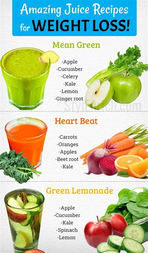 weight loss recipes juice healthy amazing lose natural juices way