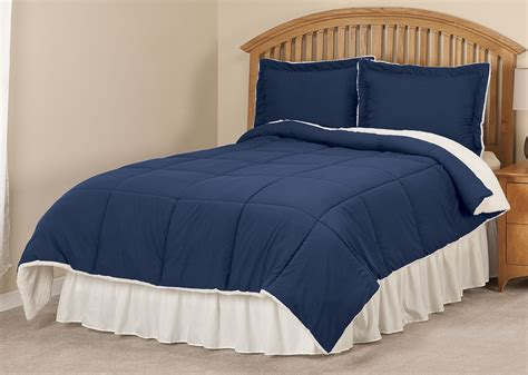 sherpa lined microfiber comforter by oakridgetm ebay - Sherpa Lined Comforter