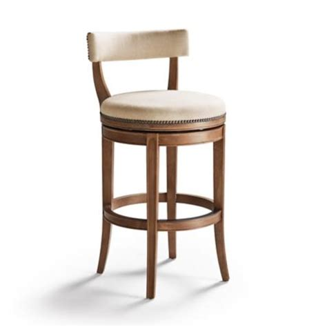 low back swivel counter stools henning low back bar height bar stool 30 quot h seat frontgate 9065
