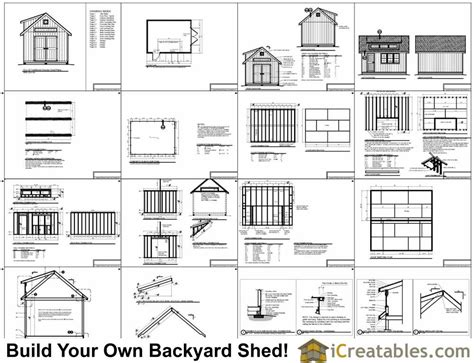 16x20 shed plans with dormer icreatables