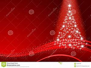 Abstract Christmas Tree With Snow On The Red Background ...