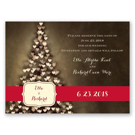 aglow holiday card save  date invitations  dawn