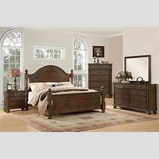 Augusta Traditional Walnut Finish Bedroom Furniture Set