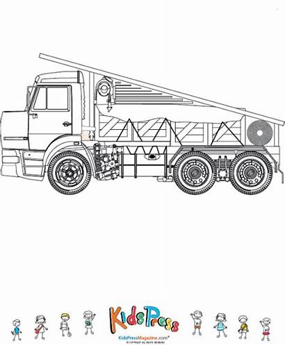Coloring Truck Bed Flat Pages Cargo Fully