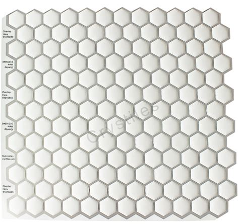Smart Tiles Peel And Stick Hexagon by Crystiles Peel And Stick Self Adhesive Vinyl Wall Tiles