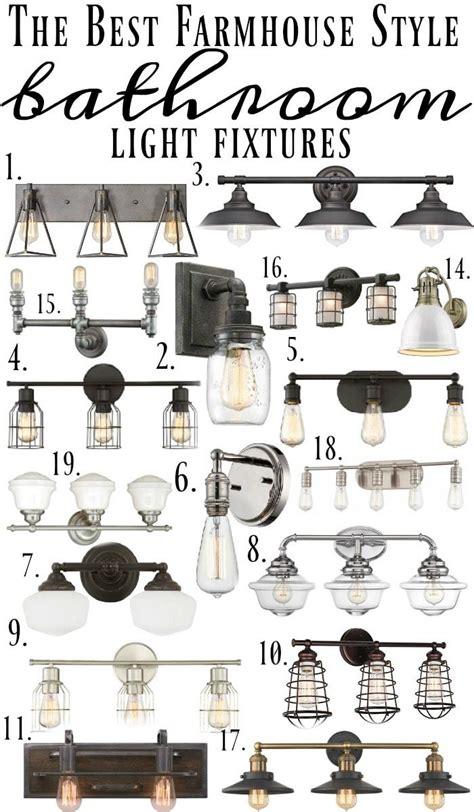 Farmhouse Bathroom Light Fixtures by Farmhouse Style Bathroom Light Fixtures